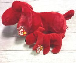 Rover Red Dog Pvc 4th Gen 1996 Retired Ty Beanie Baby Collectible And Buddy Lot