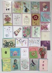 Lot 30 Papyrus Mothers Day Greeting Cards Assorted Top Quality 3d New Lot 1