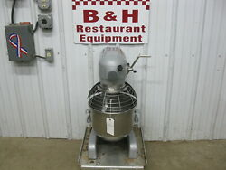 Hobart A-200t Timer Mixer 20 Qt W/ Stainless Steel Bowl Guard Flat Beater Paddle