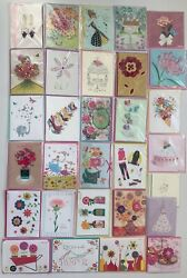 Lot 30 Papyrus Mothers Day Greeting Cards Assorted Top Quality 3d New Lot 3