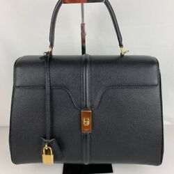 New Authentic Celine Medium 16 Grained Calfskin Bag 187373bf8