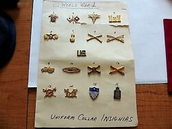 Vintage Classic Wwi Military Pin Collection Mint Condition Make Offer