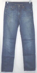 Leviand039s 514 Red Tab Menand039s Sz 32 X 34 Blue Jeans Meas 32x33 Free Shipping 334