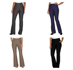 Lisa Rinna Collection Pull On Boot Cut Pants With Pockets | Various - Choose