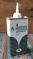 Vintage 4 Oz Shamrock Household Oil Oiler Tin Can Gas And Oil Advertising