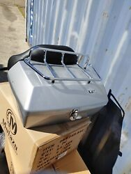 Std Silver Motorcycle Dmy Trunk Tour Pak Fits Harley Touring And Metric Cruisers