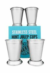 Mint Julep Cups Stainless Steel Kentucky Derby Glasses Set Of 4 Or 2 Metal...