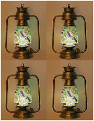 Somil Antique Wall Mount Lantern Lamp With Glass Hand Decoratedvc26-dvq