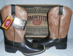 Nocona Deertanned Distressed British Tan Leather Boots Mens 9d New In Box