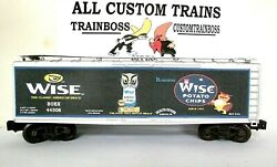 Lionel O Scale 3 Rail Custom Lettered Wise Potato Chips Collectible Reefer Lot