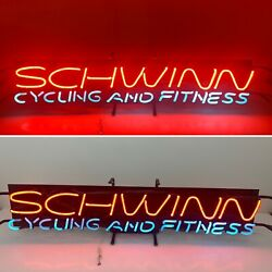 Schwinn Cycling And Fitness Neon Bicycles Lighted Vintage Bike Advertising Sign