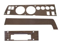 1970 Road Runner Charger Gtx Dash Bezel 3 Pc Woodgrain 8track And A/c