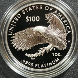 2019 W Proof 100 One Hundred Dollar 1 Oz Platinum Independence Coin