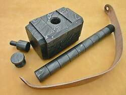 Rare Hand Made Thor's Hammer Replica Custom Order Forged Damascus W/leather Loop