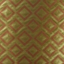 V88v Global Chic Ikat Woven Jacquard Fabric Bty Multi Red Gold