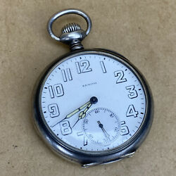 Zenith Corps Of Engineers 1918 Wwi 0.900 Silver Cased Pocket Watch