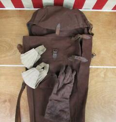 Vintage 1930s Fencing Antique Epee Tote Bag W/ Leather Gauntlet Glove Elbow Pads
