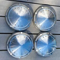 68 69 70 71 72 Plymouth Division Dog Dish Hub Caps 9 Stainless Set Of 4 Gtx Oem