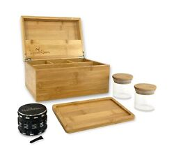"""Upper Room Large Wooden Stash Box Kit 10""""x7""""x5"""" With Accessories Includes Rol..."""