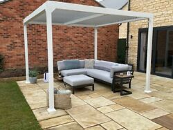 The Stow 3x3 White Aluminium Pergola - With Manual Louvre Roof