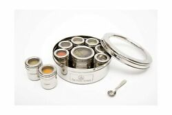 The Three Sisters India Hand Crafted Stainless Steel Masala Dabba Spice Tins ...