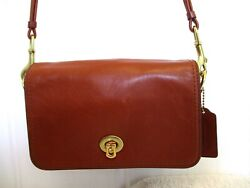 Coach 19914 Whiskey Brown Leather Legacy Penny Crossbody Shoulder Bag *No Strap $34.96