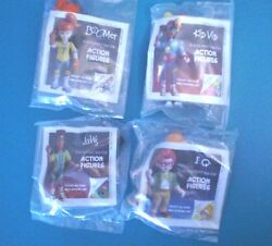 Burger King 1991 - Poseable Kids Club Characters - Complete Set Of 4 Mip