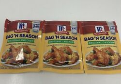 McCormick Bag #x27;N Season Original Chicken Herbs and Spices Bag Included Lot of 3