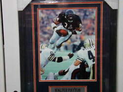 Framed Walter Payton Signed Chicago Bears Collage Psadna Rip Rare