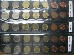 Finland 1999 2000 2001 2002 2003 5 Years Run 5 Coin Sets 1 Cent To Andeuro2 Euro
