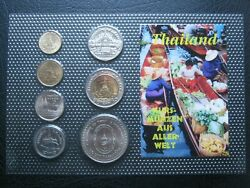 Thailand Thai Coin Collection Set 25 50 Satang + 1 2 5 10 And 20 Baht Sealed Pack