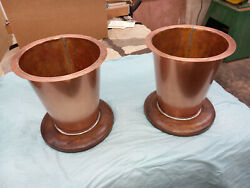 Hand Crafted Copper Replacement Planter Stand Pots