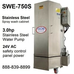 Spray Wash Cabinet Stainless Steel Parts Washer Cabinet Swe-750s - 1,250lbs Load