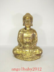 9.1 Chinese Old Antique Porcelain Qing Dynasty Qianlong Gilt Buddha Statue