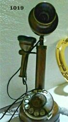 NEW ANTIQUE VINTAGE COLLECTIBLES CANDLESTICK TELEPHONES ROTARY DIAL REPLICA