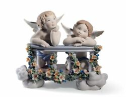 Lladro Celestial Balcony Angels Figurine. Limited Edition 01008590 Free Ship New