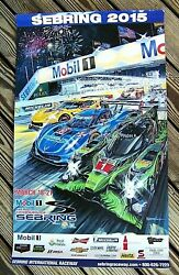 2015 Mobil 1 12 Hours Of Sebring Race Poster Nice One