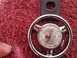 1960and039s Old England Swiss Made Steering Wheel Watch W/ Charlotte Motor Speedway