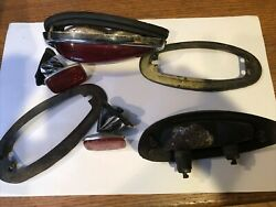 Vintage Porsche 356 Tail Lamps Reflectors An Mounting Bracket Nice Cond