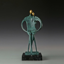 Modern Abstract Art Bronze Statue Ornament Romantic Couple Sculpture Collections