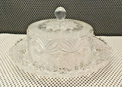 Antique Butter Dish Glass Moulded To Shape Or Cut With Bell Or Other