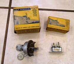 Vintage Car Truck 4 Position 6 Or12 Volt Cole-hersee Ignition Switch + Breaker