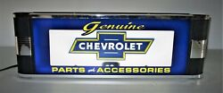 Chevrolet Genuine Parts And Accessories Art Deco Neon Lighted Advertising Sign