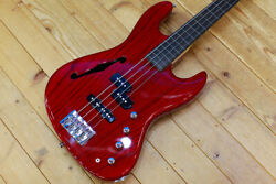 Crews Maniac Sound Uncle Fat Ash See Through Red Electric Bass
