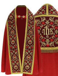 Red Roman Cope With Stole Vestment Capa Pluvial Roja Piviale Rosso Kt701c25h23