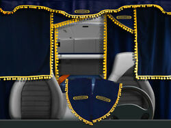 Truck Lorry Curtains Full Set Freightliner All Models Cascadia Century Blue/yell