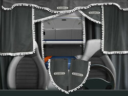 Truck Lorry Curtains Full Set Freightliner All Models Cascadia Century Grey/whit