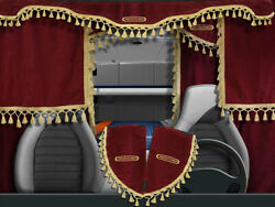 Truck Lorry Curtains Full Set Freightliner All Models Cascadia Century Red/gold