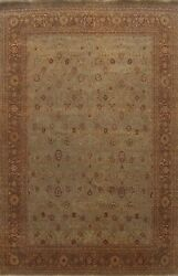 Vegetable Dye Floral Traditional Oriental Area Rug Hand-knotted Wool Carpet 8x10
