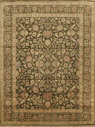 Vegetable Dye Floral Traditional Oriental Area Rug Hand-knotted Wool 8x10 Carpet